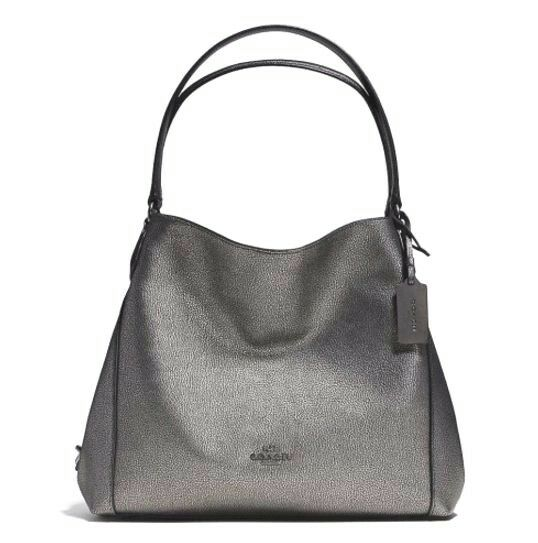 b28c7e850935 Coach 36464 Gunmetal Pebble Leather Edie 31 Shoulder Bag for sale online