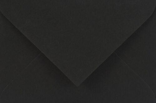 500 Schwarz Mini-Briefhüllen DIN C7 Sirio Color Umschläge für Business-Karten