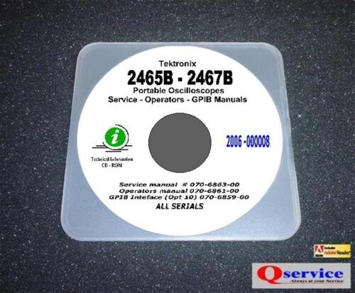 Test Equipment Manuals & Books Tektronix 2465B 2467B Service ...