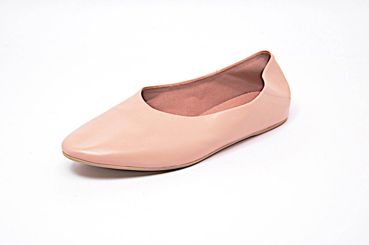 STELLA McCARTNEY Pink Softest Softest Softest Leather Comfort Flats   38.5 US8.5  Ex Condition da5077