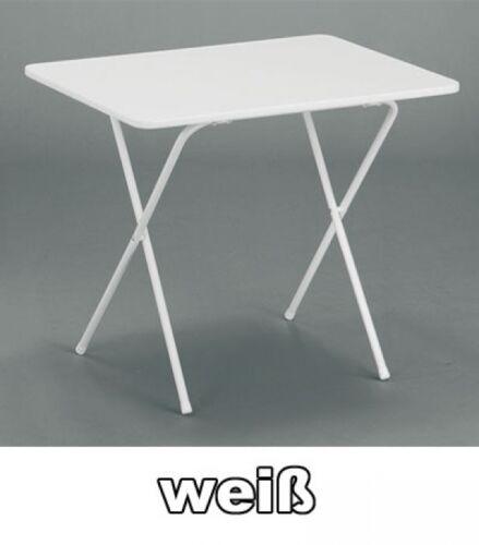MFG Campingtisch klappbar eckig 60 x 80 cm weiß Kunststoff