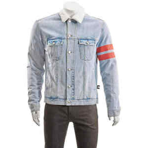 GCDS Ladies Light Blue Denim Logo Jacket