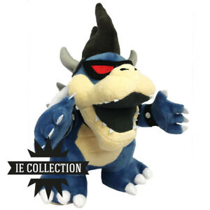 SUPER-MARIO-BROS-BOWSER-OSCURO-PELUCHE-dark-jr-pupazzo-plush-new-3d-land-luigi