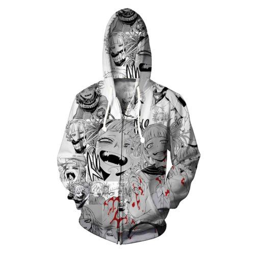 Il mio eroe Academia HIMIKO Toga MEN/'S Donna Felpa Con Cappuccio Pullover Cappotto Cosplay Costume