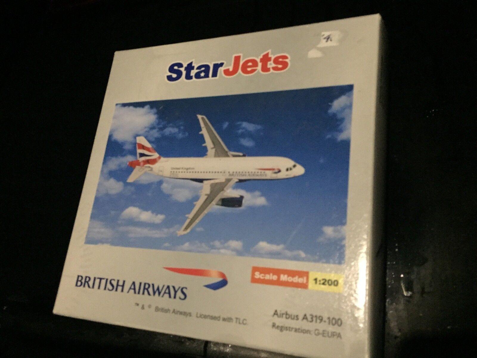 estrella Jets 1 200 Airautobus A319 British Airways Reg  G-EUPA nuovo Unopen