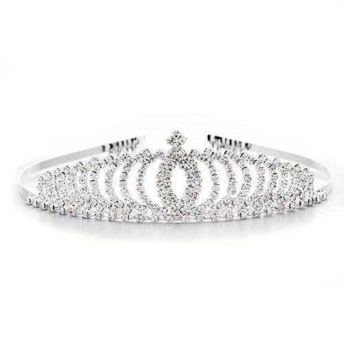 Wedding Bridal Princess Full Crystal Rhinestone Hair Accessory Tiara Crown Charm