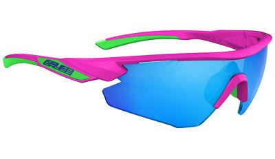 BLUE iridium lens sunglasses NEW Merida SALICE 012 RW FLUO FUCHSIA PINK frame