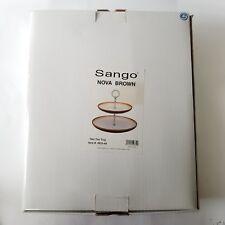 Sango Nova Brown Two Tier Tray Ceramic New