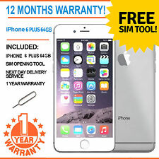Apple iPhone 6 Plus 64GB Factory Unlocked - White / Silver
