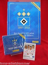 Panini 125 Jahre HSV 1 Box 50 Tüten + Album + Update = 250 Sticker + Leeralbum