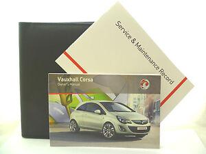 VAUXHALL-CORSA-D-SERVICE-BOOK-HANDBOOK-amp-WALLET-PACK-2011-To-2015-NEW
