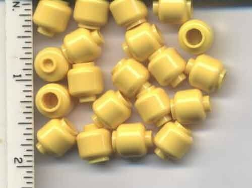 Plain NEW bulk LEGO x 20 Yellow Minifig Head