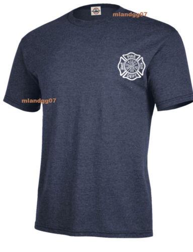 Firefighter T-Shirt Fire Department Two Sides Print Shirt SZ S-5XL