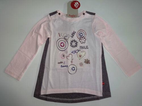 neu PAGLIE Mini rosa Langarm Shirt Tunika Gr 68 74 80 86 92 98 Schleife