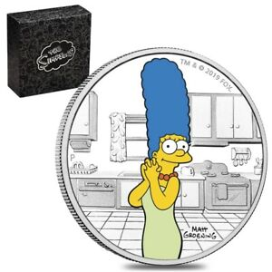 2019 1 oz Tuvalu Proof Marge Simpson Silver Coin .9999 Fine Silver (Colorized)