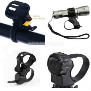 NEU-Universal-Fahrrad-Taschenlampe-Torch-Handle-Bar-Holder-Mount-Clamp-Montage-Q