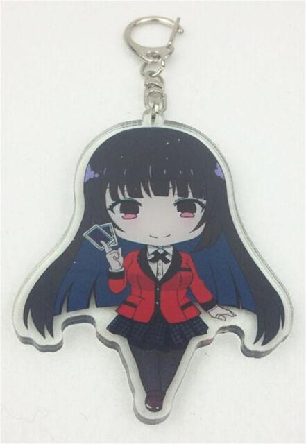 Anime Kakegurui Yumeko Jabami Cosplay Keychain Key Ring Pendant Collectible Gift