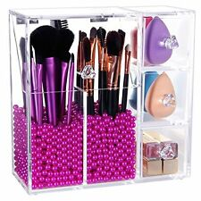 Acrylic Makeup Organizer Case Brush Holder Storage Cosmetic Dustproof Box Sturdy
