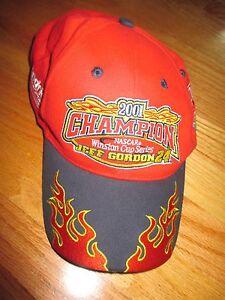 Chase 2001 JEFF GORDON No 24 WINSTON CUP Champion (Adjustable) Cap RED
