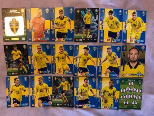 Panini Adrenalyn XL Euro 2020 Completo Equipo Conjunto de 18 Tarjetas de Suecia Menta