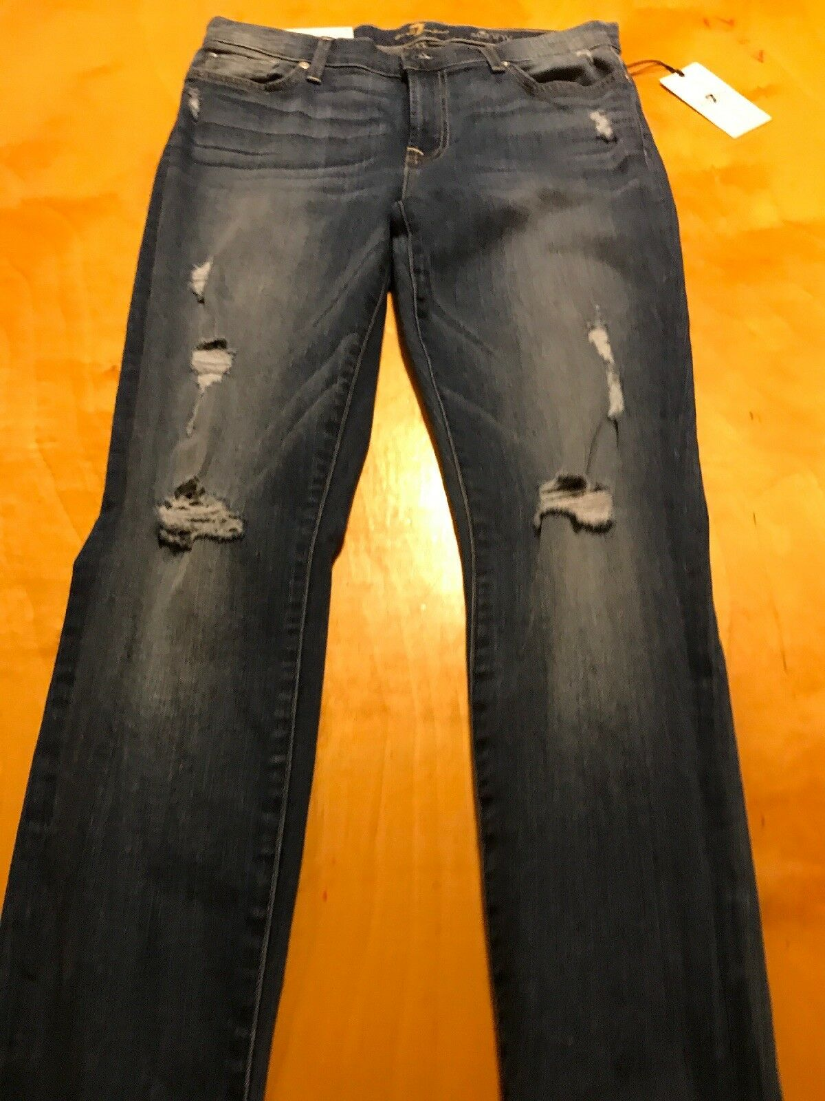 199 Women's 7 For all mankind super skinny the ankle skinny size 30 P53