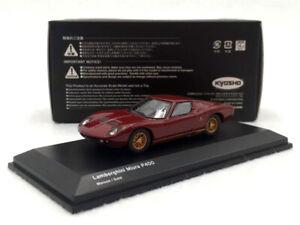 New-KYOSHO-1-64-Scale-Diecast-Car-Model-Toy-Lamborghini-Miura-LP400-Maroon-Gold