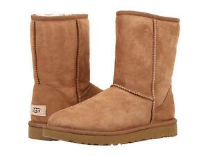 b053a8e3d7c Men UGG Classic Short Boot Suede 5800 Chestnut Twinface 100 ...