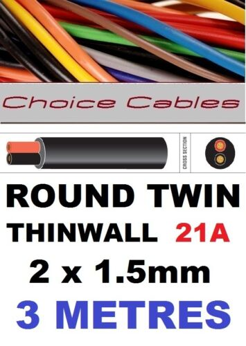 AUTOMOTIVE ELECTRICAL 2 CORE ROUND TWIN RED BLACK AUTO MARINE CABLE WIRE WIRING