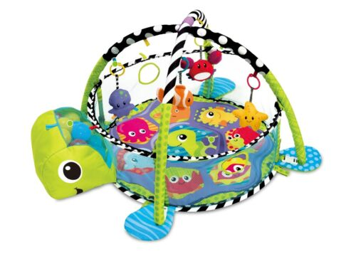 Baby Playmat  3in1 Activity Turtle Floor W// Ball Pit /& Sensory Toys Play Mat