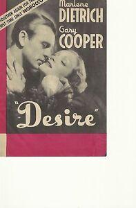 DESIRE-1936-MARLENE-DIETRICH-GARY-COOPER-ORIG-PRESSBOOK-HERALD
