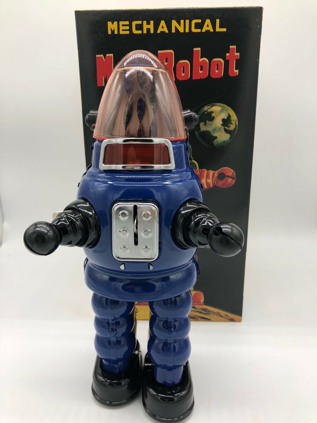 MOON ROBOT blueE ROBBY THE ROBOT YONEZAWA TIN TOY NOMURA YOSHIYA HORIKAWA