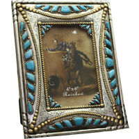 Western Decor Heirloom Silver Turquoise Picture Frame 4 X 6