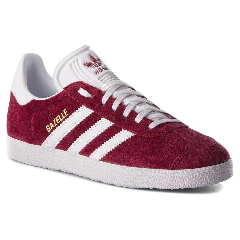 Rebajas  adidas Gazelle b41645 caballeros zapatillas original zapatillas Burgundy