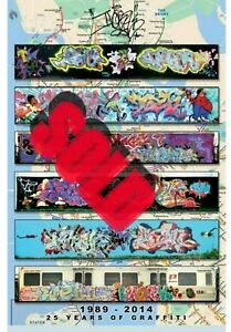 Nyc Subway Map 1989.Details About Tm7 Crew Limited Edition Graffiti Nyc Subway Map Large Poster Urban Street Art
