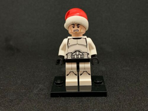 Star Wars CHEAPEST LEGO minifigure sw596 Clone Trooper with Santa Hat -