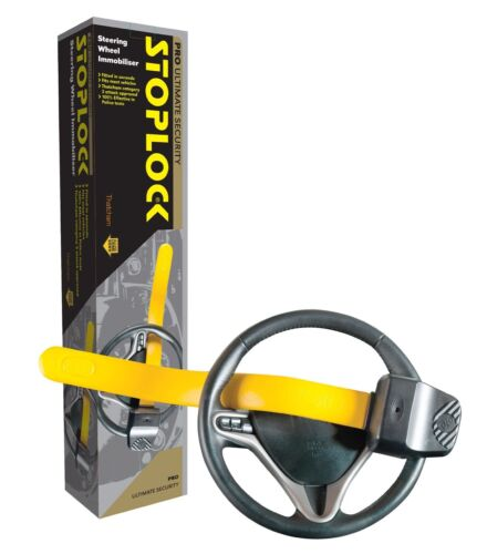 Stoplock Professional Car Van Yellow AntiTheft High Security Steering Wheel Lock