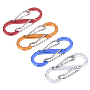 5Pcs-8-Shape-outdoor-carabineer-locking-carabiner-keychain-tools-RU