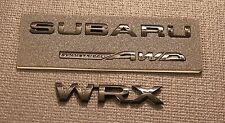SUBARU WRX GLOSSY BLACK REAR BADGE BUNDLE (SAVE $$$ with Bundle) 2015+ WRX / STI