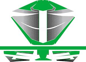 KARTING CUSTOM GREEN ROTAX AIRBOX STICKER KIT TO MATCH OUR GREEN CUSTOM KIT