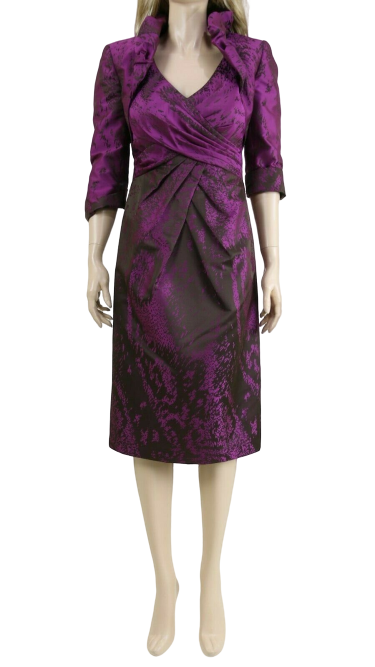 John Charles 25007 Women's Berry Formal Wedding 2 Piece Suit Set Dress UK 10 38