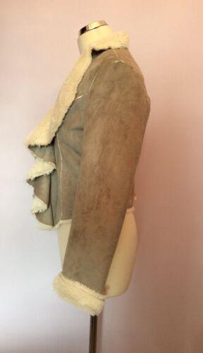 foderata grigio sintetica taglia Giacca pelliccia Moda 8 Mia Bnwt in 0wF1O1