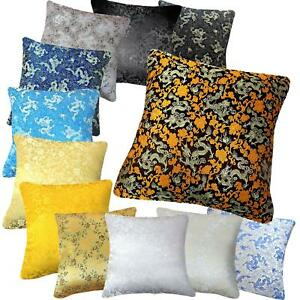 3e3fe2b03 Image is loading Pillow-Cover-Chinese-Rayon-Brocade-Throw-Seat-Pad-