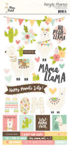 Simple-Stories-Mama-Llama-Collection-6x12-cardstock-stickers-10163