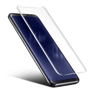 Schutz Glas 3D für Samsung Galaxy S8 Curved Panzerfolie 9H Case friendly KLAR