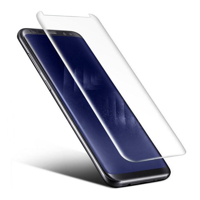 Panzer Glasfolie Samsung Galaxy S8 Panzerfolie 3D Echt Glas Case friendly KLAR