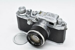 [EXC +++++] Canon IIf Entfernungsmesser MF w/50mm f1.8 Objektiv Leica l39 Mount Japan #1871