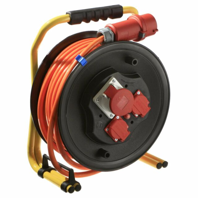 25 m CEE Profi Sicherheits Kabeltrommel 400V/16A 5x2,5 orange (20668) #