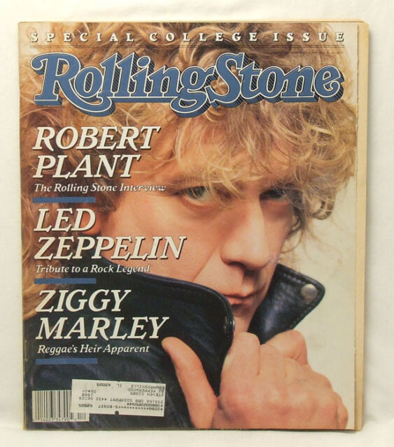Robert Plant ROLLING STONE Issue 522 Led Zeppelin Ziggy Marley March 24 1988