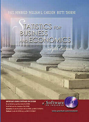 (Good)-Statistics for Business and Economics and Student CD-ROM (International E