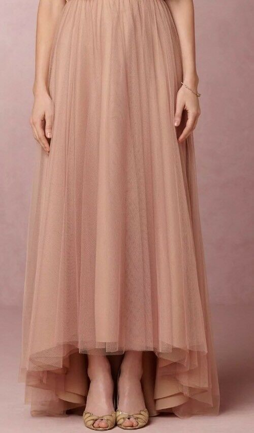 BHLDN Petal Tulle Skirt Size 10 Lhuillier Shell pink NWT